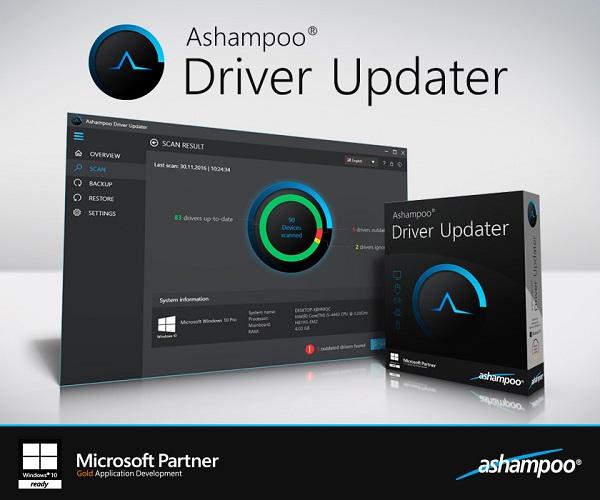 Ashampoo Driver Updater İndir – Full Türkçe 1.2.1.53382